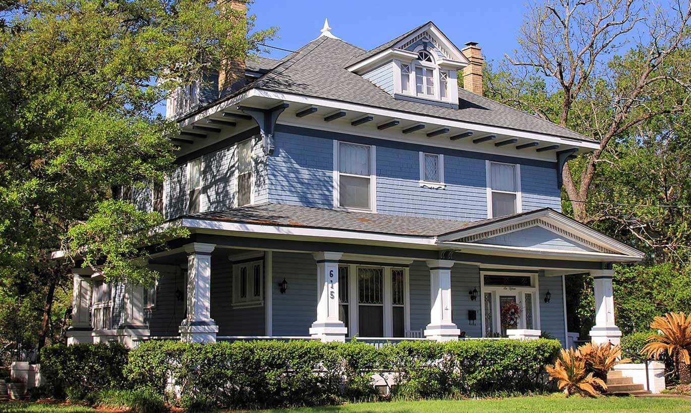 The historic Waldrop House in Bryan, Texas was built in 1908.