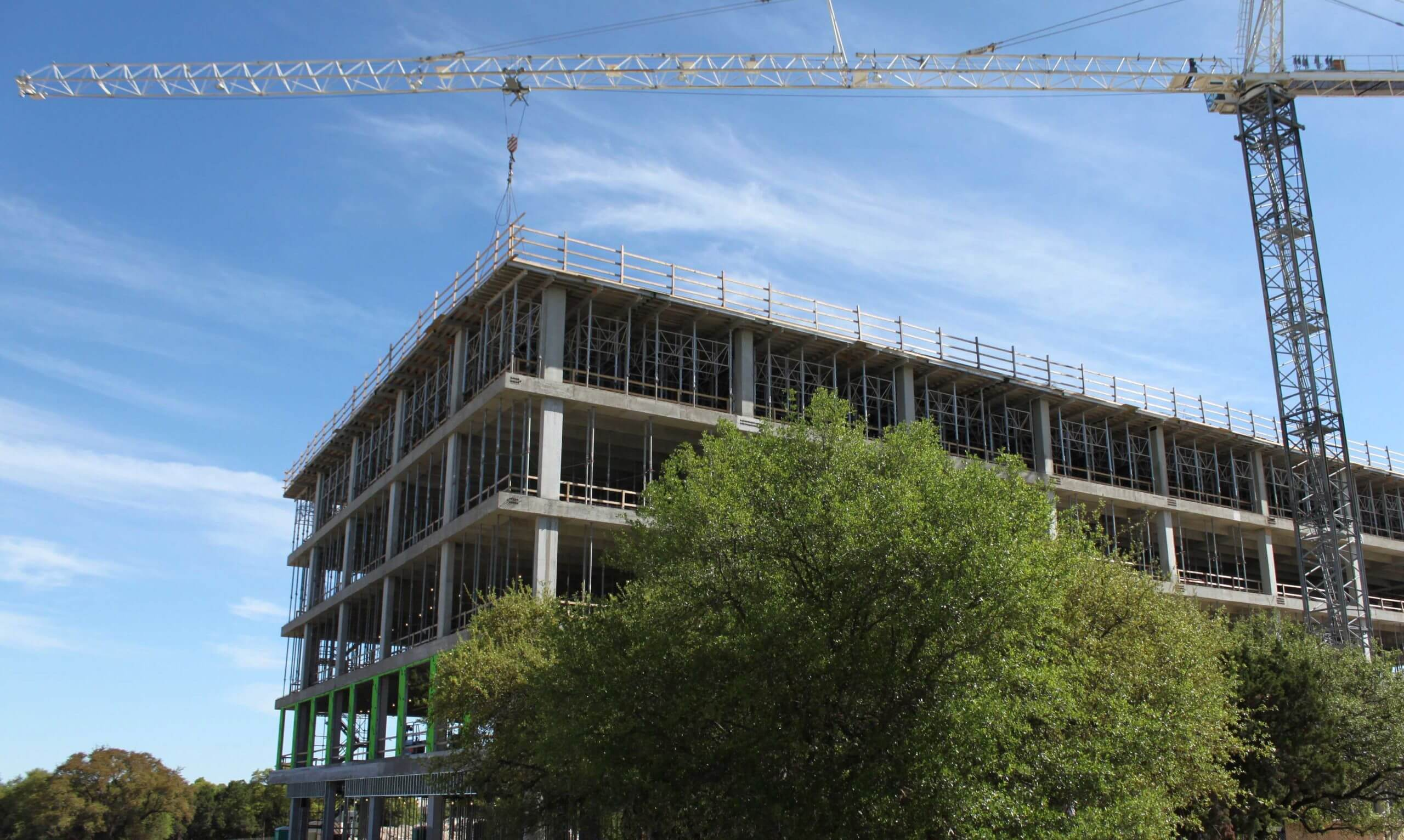 The Charles Schwab facility being constructed in Austin, Texas.