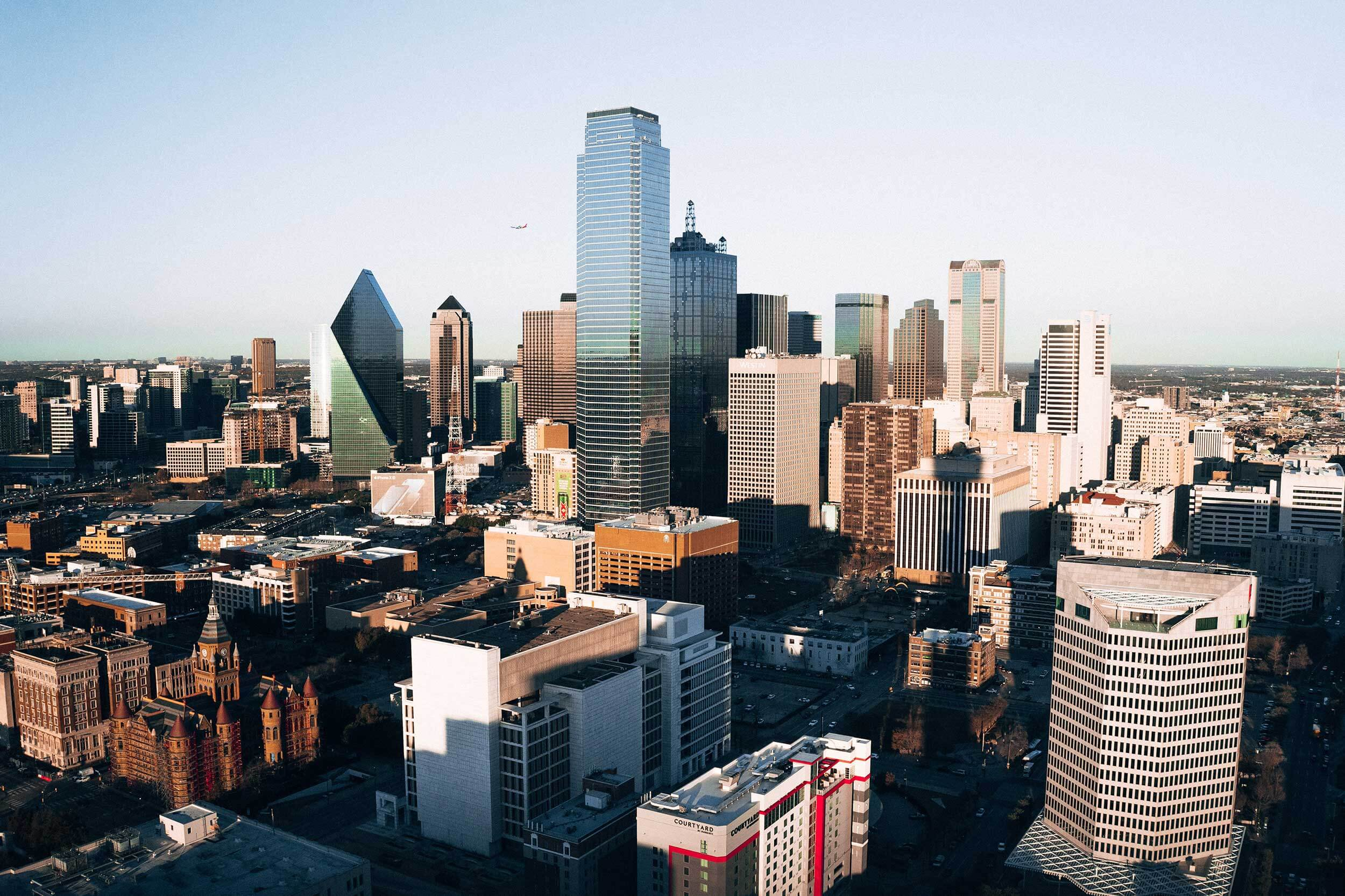 Aerial view of Dallas, Texas