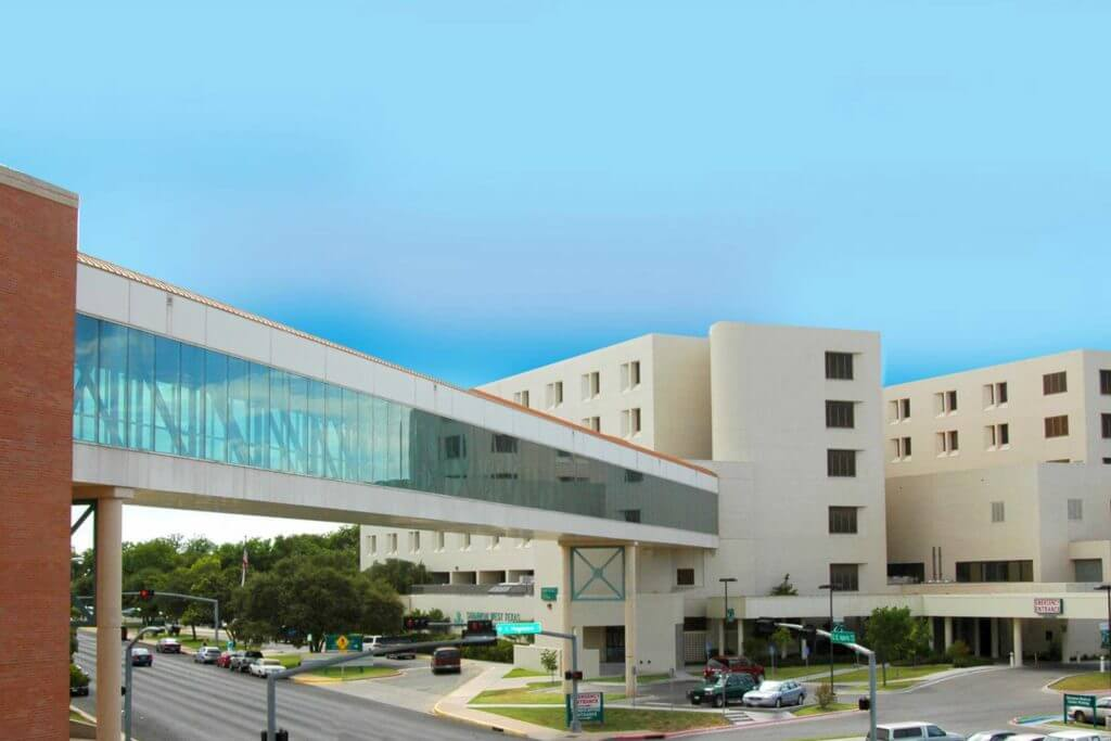The Shannon Regional Medical Center features two buildings connected by a glass walkway.