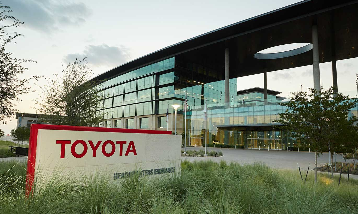 The Toyota entrance sign
