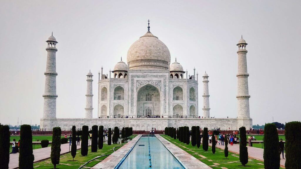 The Taj Mahal in Agra, India. Multiple India companies do business in Texaas.