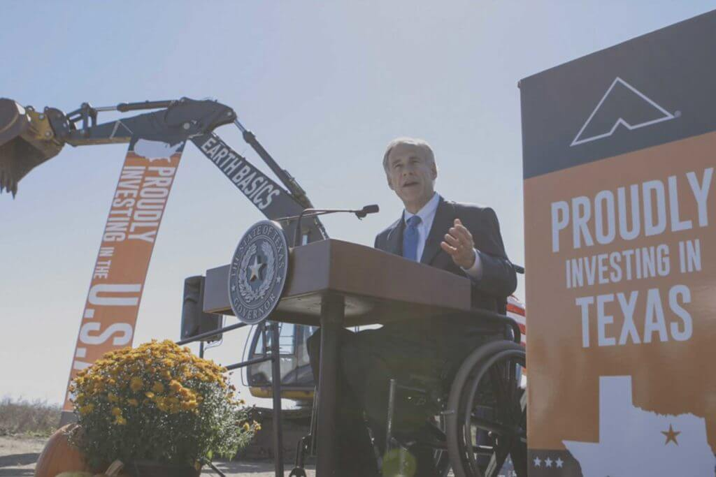 Governor Abbott speaks at Ashley Furniture groundbreaking in Texas